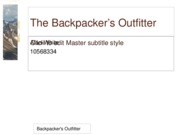 Backpacker's Outfitter