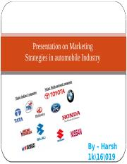 Presentation on Marketing Strategies in automobile Industry.pptx