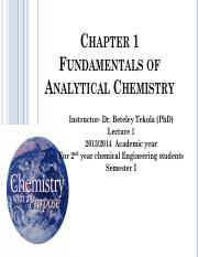 1-Analytical Chemistry Fundamentals
