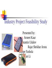 Industry Project Feasibility Study_FINAL
