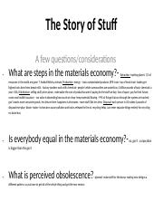The Story of Stuff Questions- Lecture 4.docx