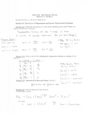 Math1215 Lecture Notes October 7