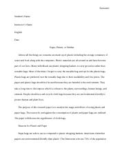 RESEARCH PAPER ON THE IMPORTANCE OF PLASTIC PAPER OVER PAPER BAGS.docx