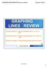 GRAPHING LINES REVIEW NOTE