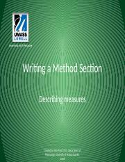 Writing a Method Section-Measures_tcm18-117658