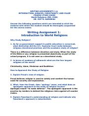 Writing Assignments 1-4.docx