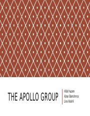 The Apollo group (1)