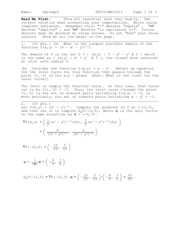 Exam 2 Solution on Calculus III
