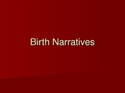 20_Birth Narratives