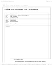 HazMat Waste Unit I Assessment