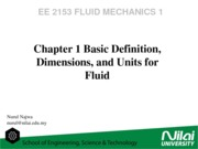 LOC1-Basic definition, dimensions and units for fluid