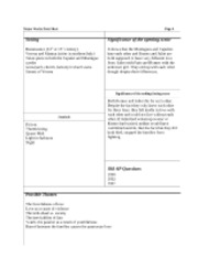 Romeo and Juliet Major Works Data Sheet