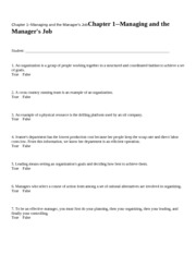 Chapter 1--Managing and the