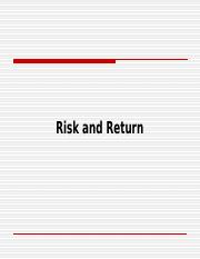 Risk and Return.ppt