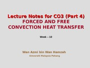 Week 10 Heat Transfer Lecture