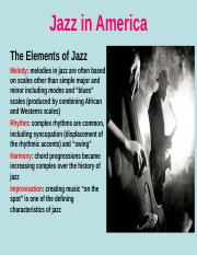 MUS 101 - 11 Jazz in America S17.ppt