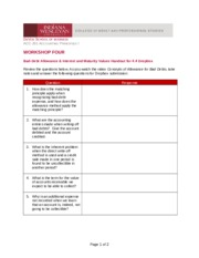 Bad-Debt Allowance and Interest and Maturity Values Handout