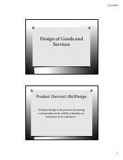 Design of Goods and Services (1)