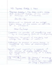 PH Notes Thermal Energy and Heat