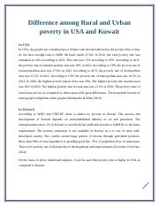 Poverty rate in USA and Kuwait
