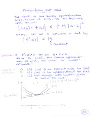 MATH 184 Error in the Linear Approximation Notes