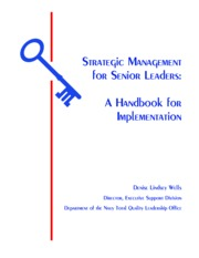 Strategic Management for Senior Leaders A Handbook for Implementation