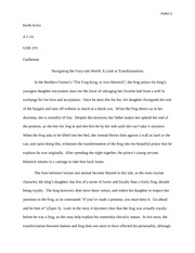 "Essay on ""The Frog King"""
