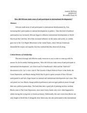 afro african american studies howard page course 5 pages bi weekly essay 5