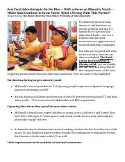 4.1 Article - Marketing - (3) Fast Food Advertising on the Rise (McD) copy