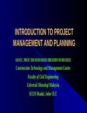 INTRO MGT AND PLANNING