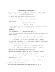 Ring, Subrings, Ideals, Intregal Domains, Ring Homomorphisms, First