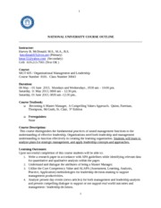 MGT 605 OUTLINE_MAY 2013_MCRD_HMAC