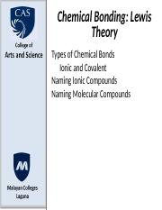 ionic bonding and naming