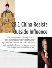 28.1 China Resists Outside Influence.pptx