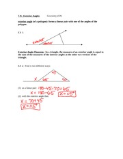 7.9 Exterior Angles Notes