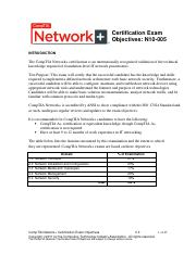 CompTIA_N+_Exam_Objectives
