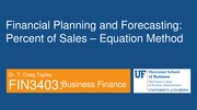 FIN 3403 - Module 8 - Chapter 17 - Financial Planning and Forecasting - Student