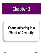 3 Ch03 Communicating in a World of Diversity.ppt