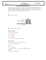 Quiz 4 2010 Solution on Intermediate Mechanics of Fluids