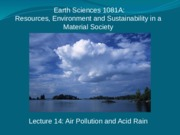 Air Pollution and Acid Rain 14