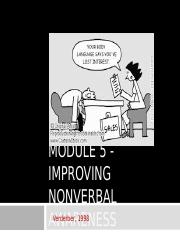 Module 5 - Improving nonverbal awareness.ppt