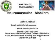 2-Neuromuscular BLockers 2014-15