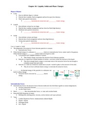 BB Notes Ch. 10 Liquids, Solids & Phase Changes handouts