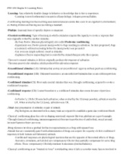 PSY 205 Chapter 6 Notes