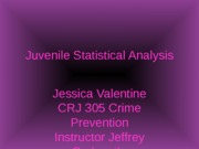 Week 2 Assignment--Juvenile Statistical Analysis