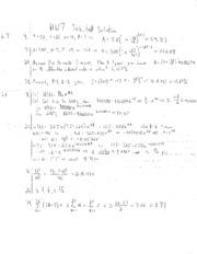 HW7 Solution