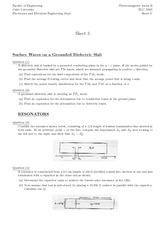 ELC N305_HOMEWORK_Sheet_3.Surface Waves on a Grounded Dielectric Slab