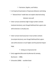 Expressive Voting Exam Study Guide