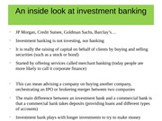 An inside look at investment banking