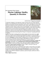 marine lighting quality quantity and duration